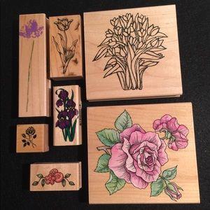 Flower Rubber Stamp Bundle